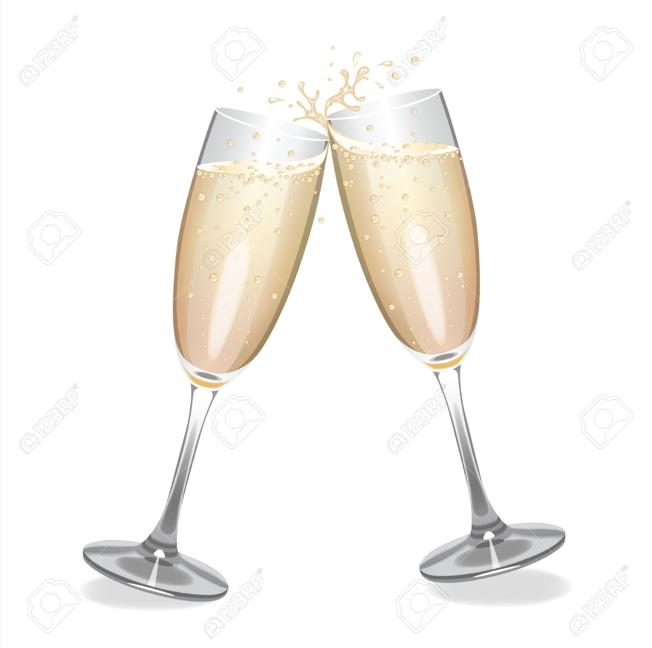 hight resolution of champagne flutes clipart 1