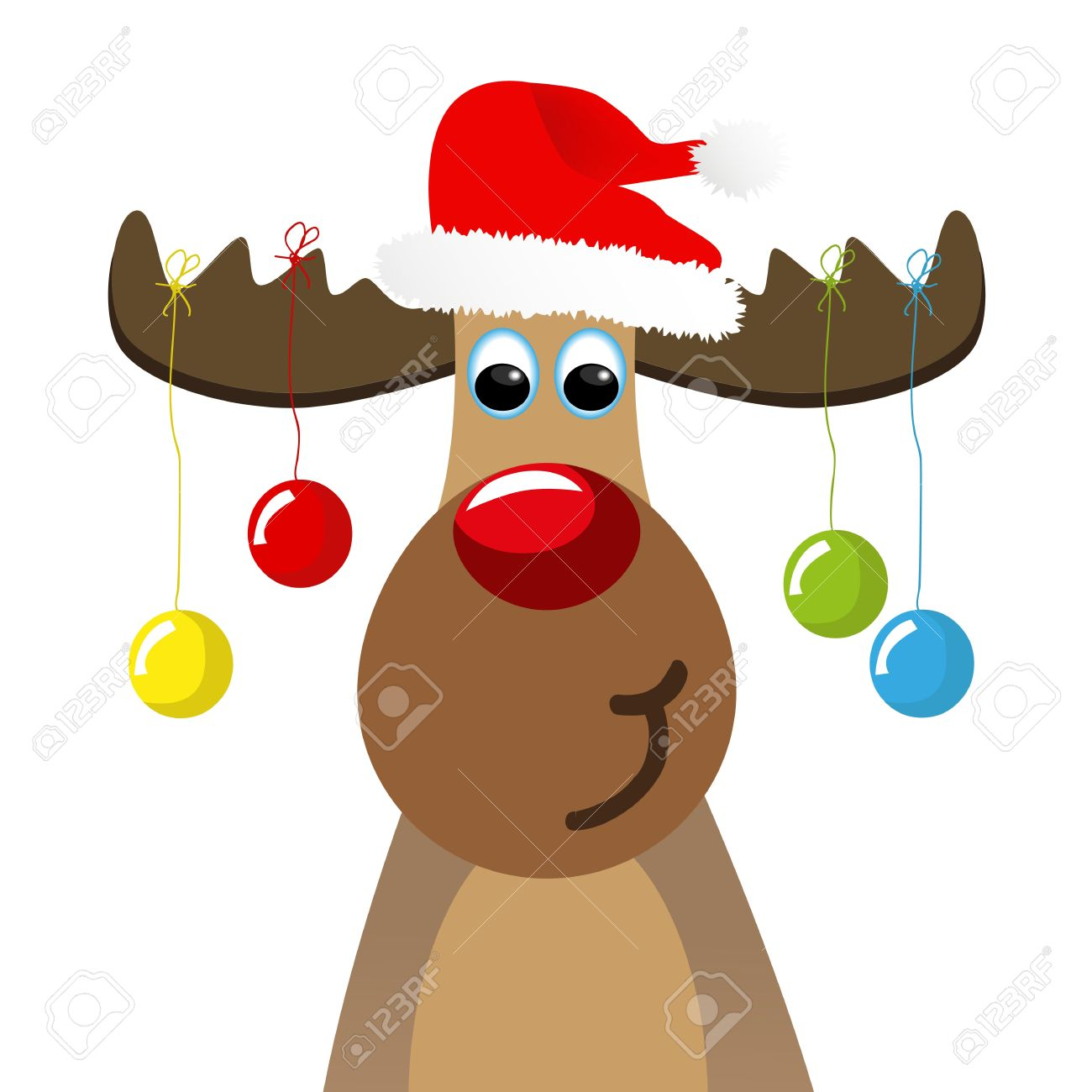 hight resolution of christmas moose clipart 5