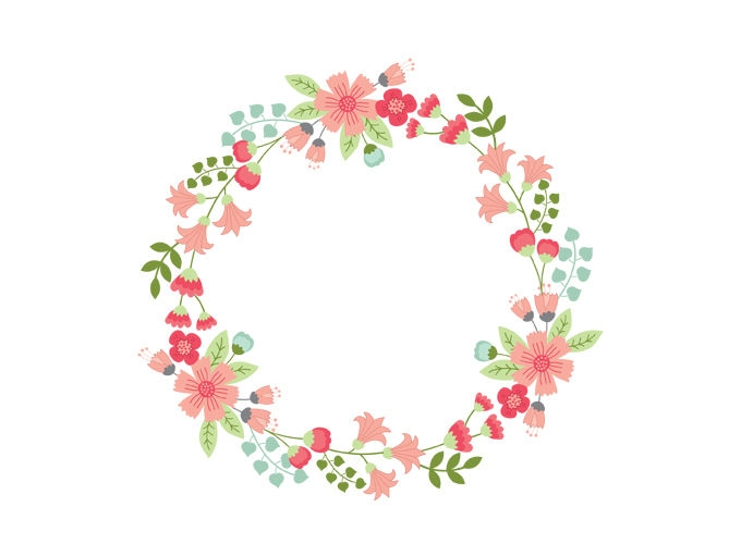 flower vector circle floral
