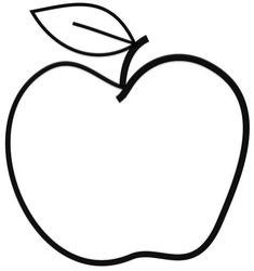 clipart mango apple clip coloring drawing apples line pages cricut fruit simple easy cleanse creations elephant drawings think than thinking