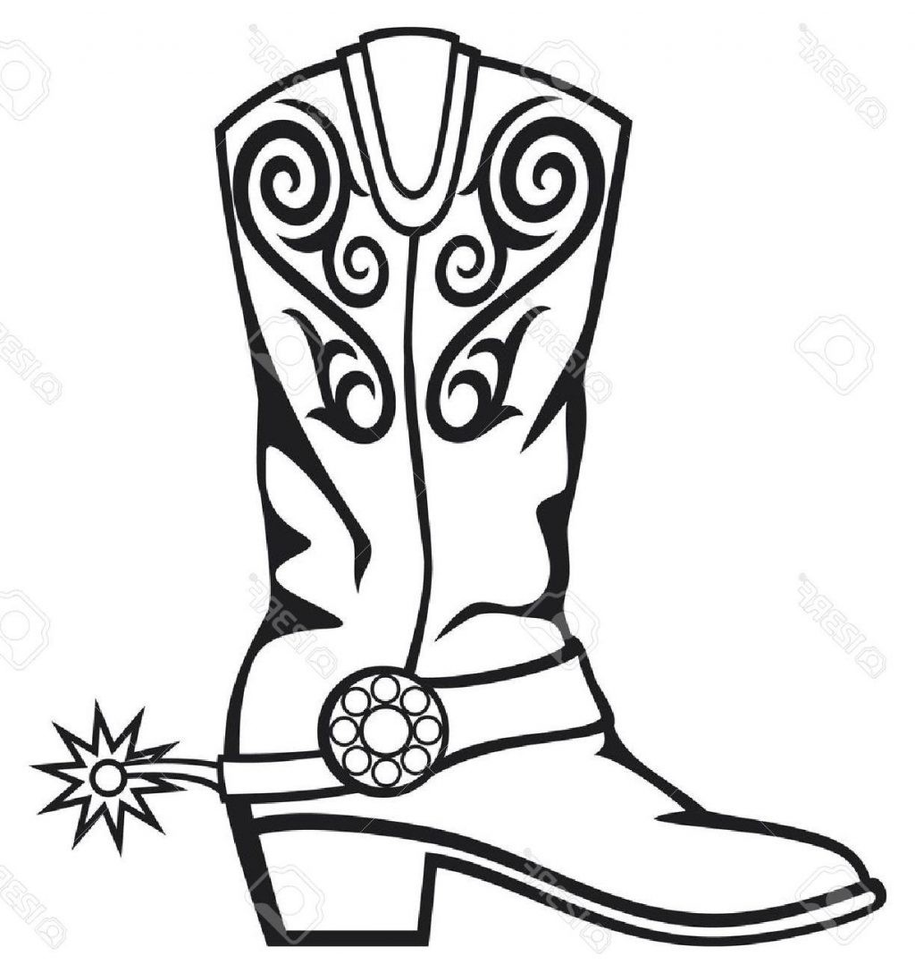 hight resolution of cowboy boot clipart 3