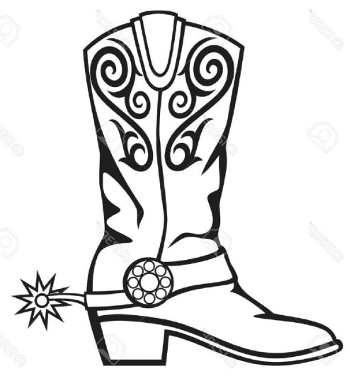 small resolution of cowboy boot clipart 3