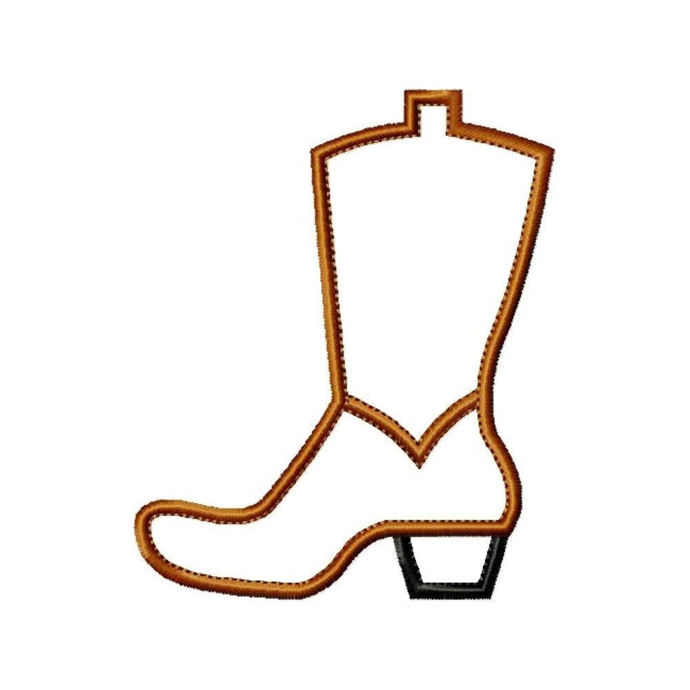 hight resolution of cowboy boot outline clipart 3
