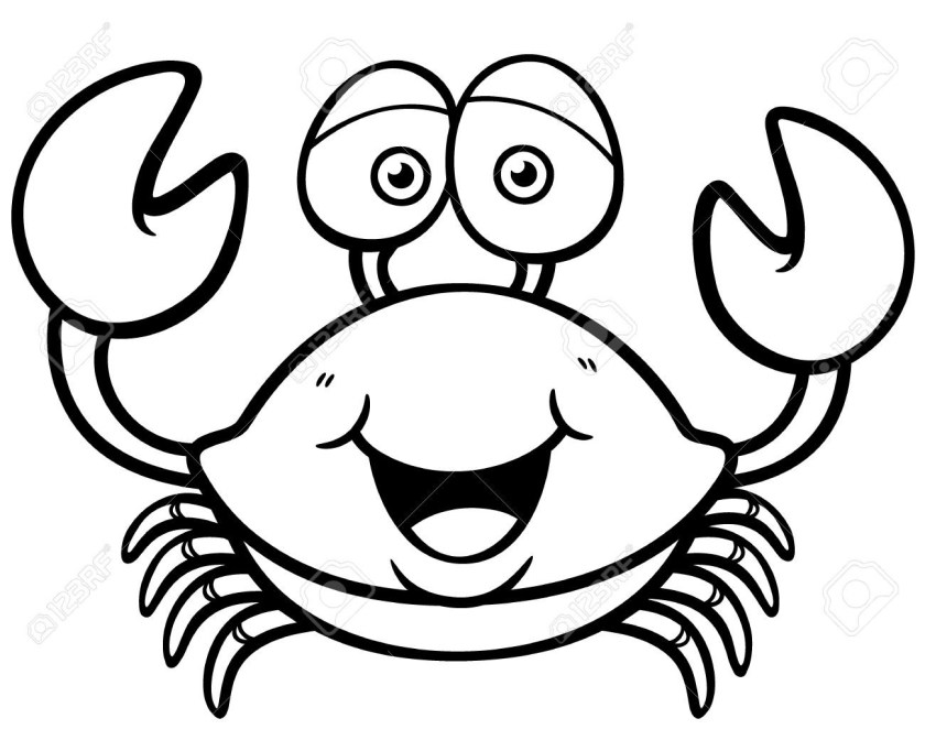 crab black and white clipart 5 » clipart station