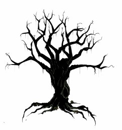 creepy tree drawing spooky clipart branch pencil and in color spooky clipart branch [ 1522 x 1600 Pixel ]