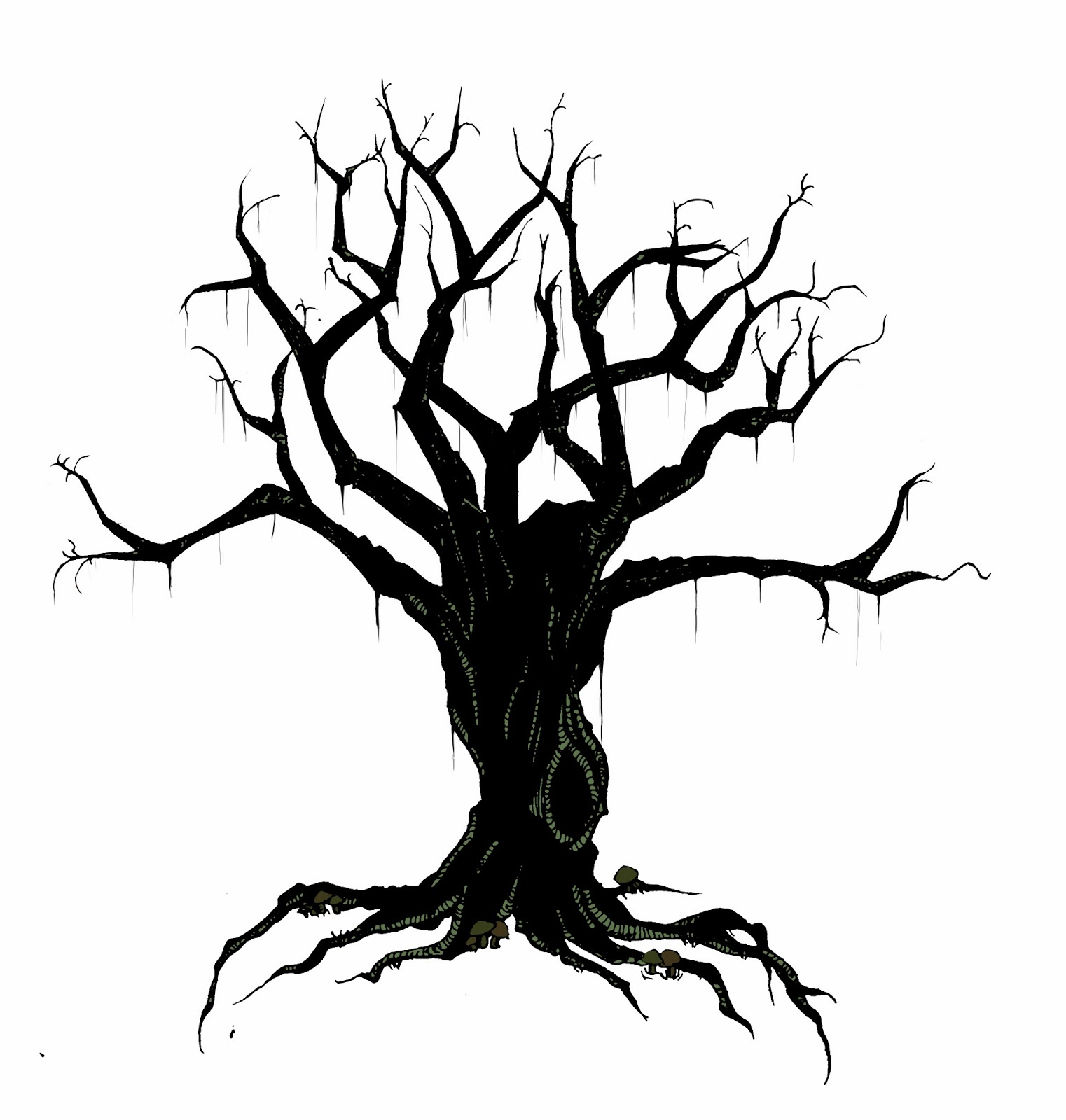 hight resolution of creepy tree drawing spooky clipart branch pencil and in color spooky clipart branch