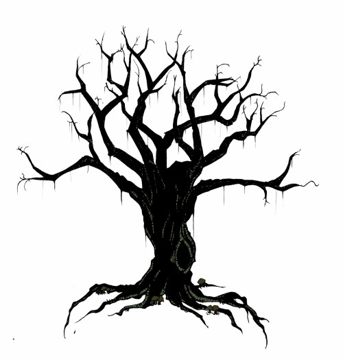 small resolution of creepy tree drawing spooky clipart branch pencil and in color spooky clipart branch