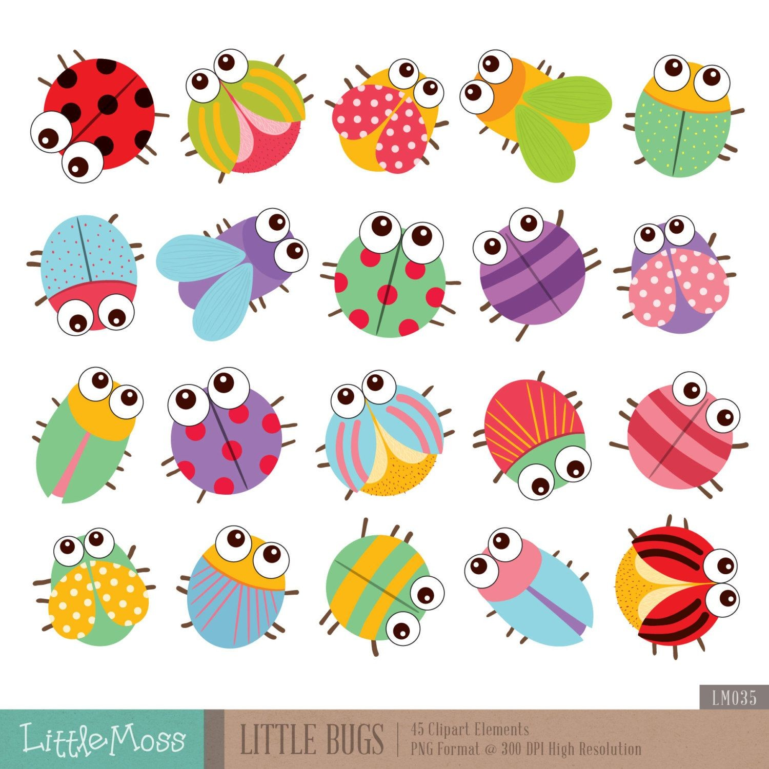 hight resolution of cute bug clipart 4