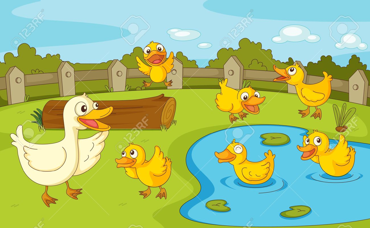 Ducks In A Pond Clipart 2 Clipart Station