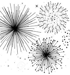 firework clipart black and white 5 [ 1300 x 959 Pixel ]