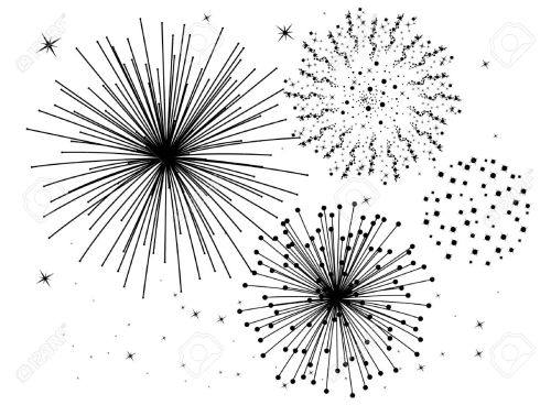 small resolution of firework clipart black and white 5