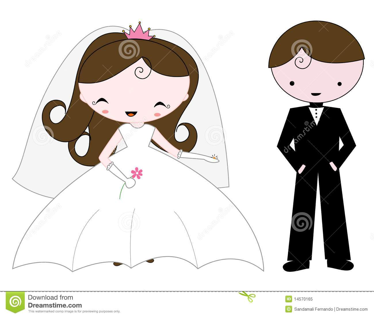 hight resolution of free bride and groom clipart 3