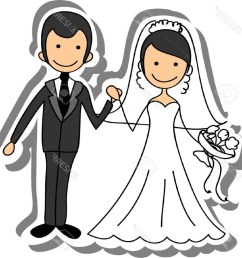 free bride and groom clipart 6 [ 1024 x 1024 Pixel ]