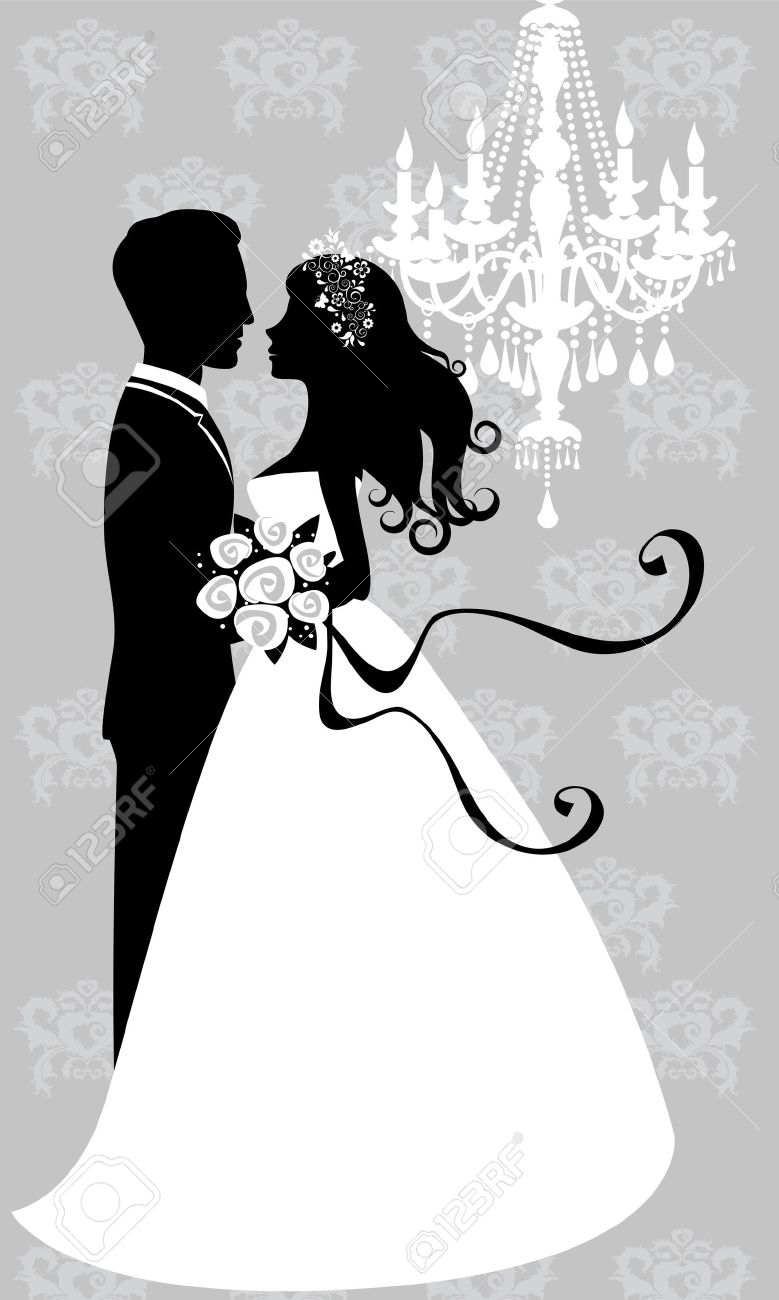 hight resolution of free bride and groom clipart 7
