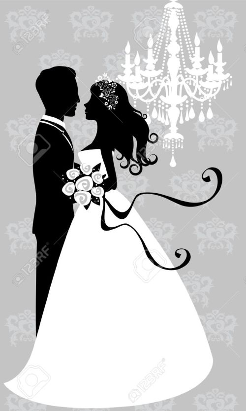 small resolution of free bride and groom clipart 7