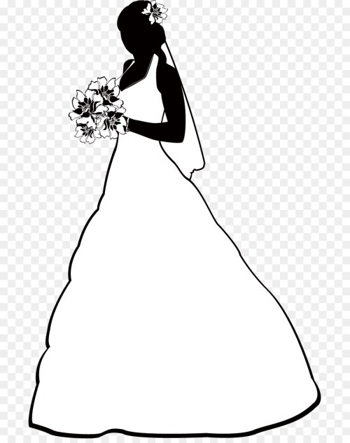 small resolution of free bride clipart 3