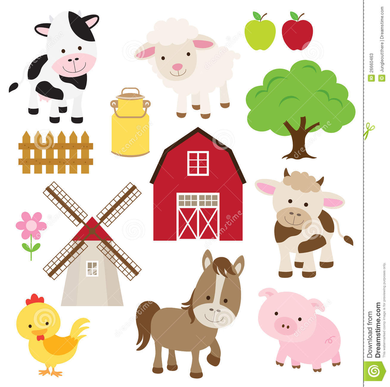hight resolution of free farm animal clipart 6