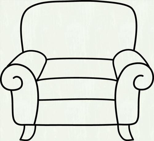 small resolution of furniture clipart black and white 2