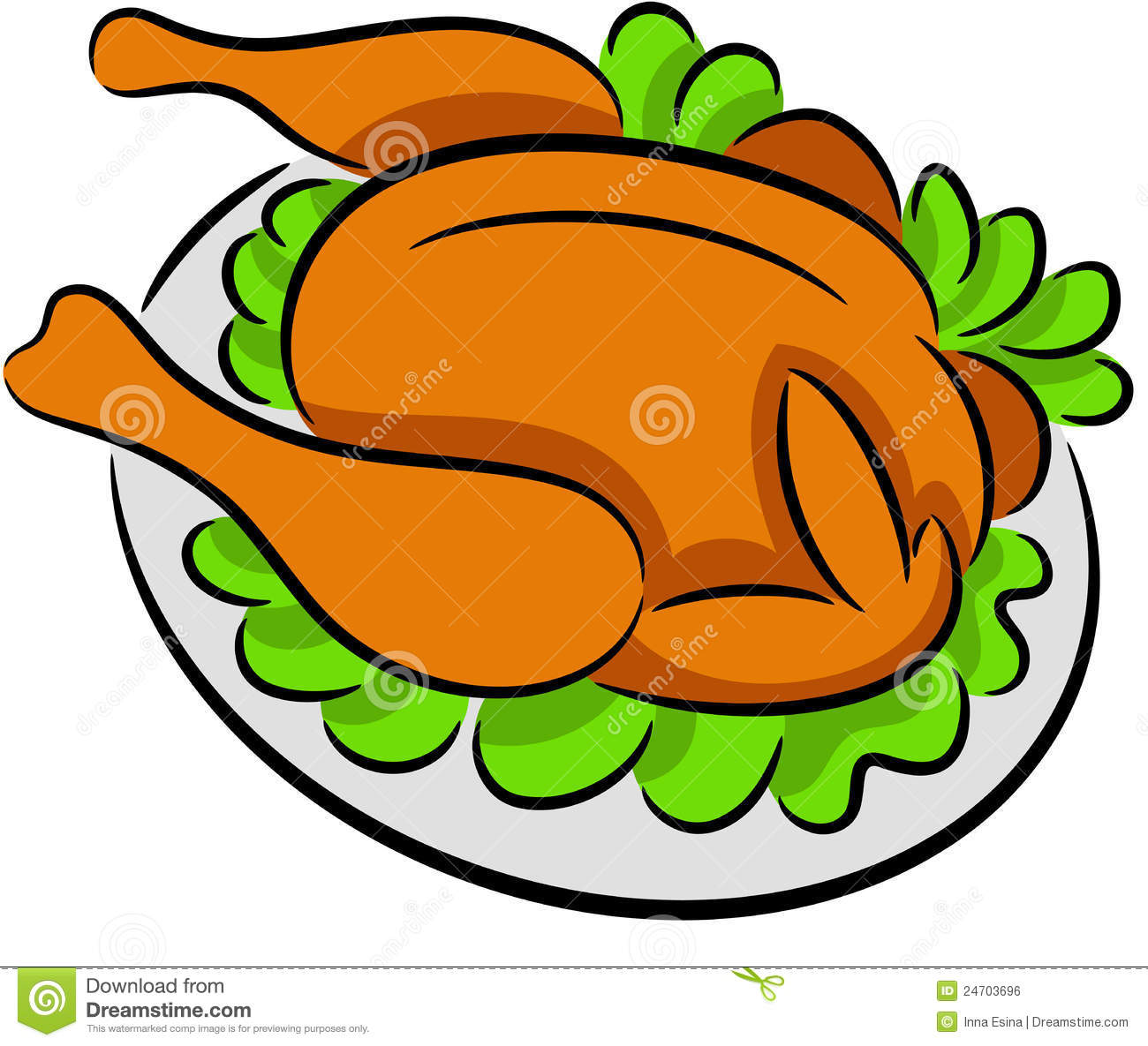 hight resolution of grilled chicken clipart 6