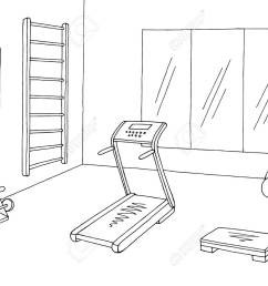 gym clipart black and white 5 [ 1300 x 975 Pixel ]