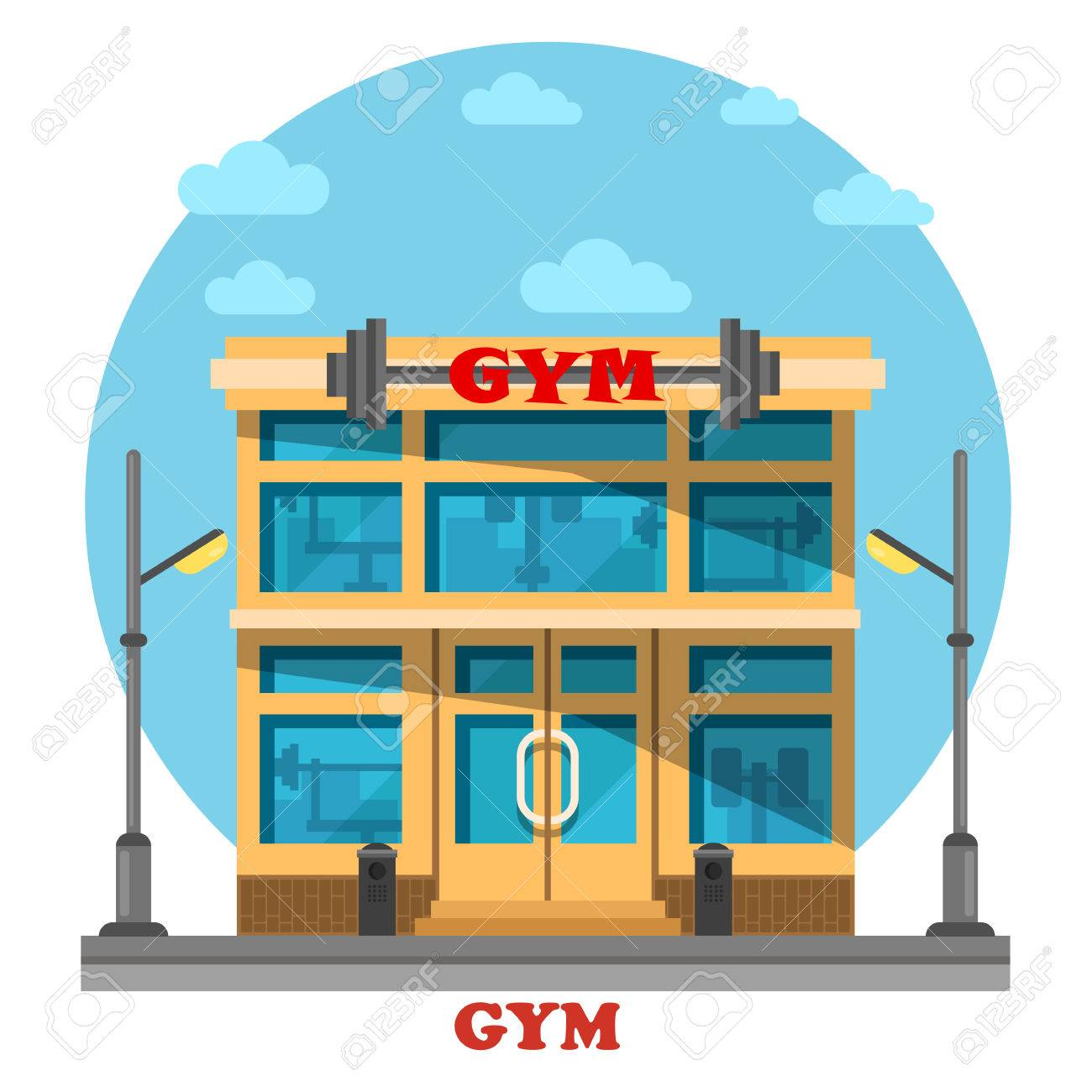 hight resolution of gym or gymnasium fitness center architecture