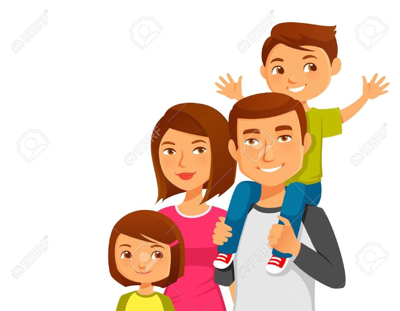 hight resolution of happy indian family clipart 4