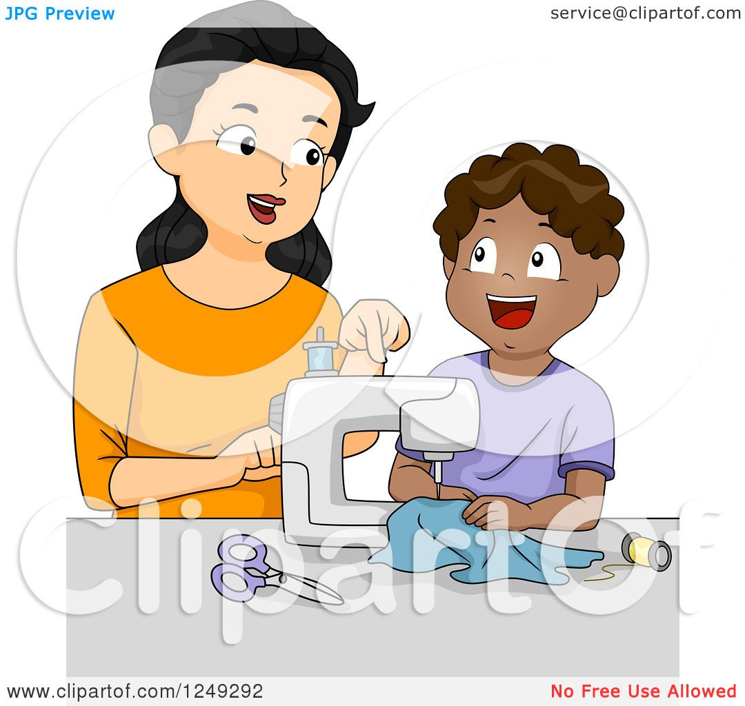 hight resolution of home economics sewing clipart 6