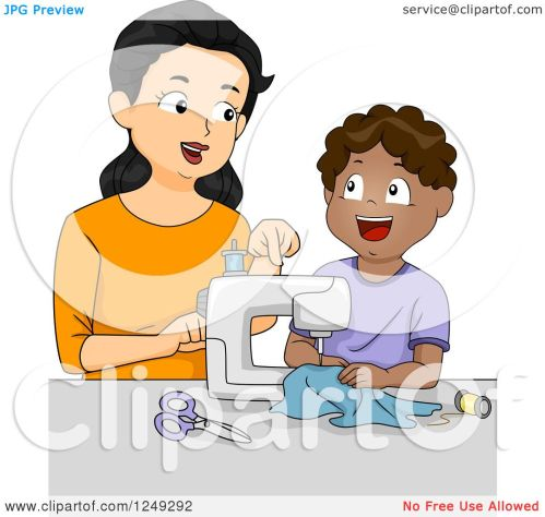 small resolution of home economics sewing clipart 6