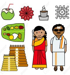 indian couple clipart 4 [ 1300 x 1278 Pixel ]