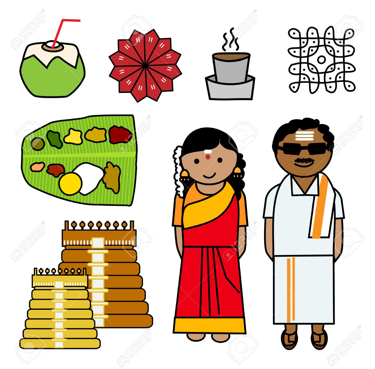 hight resolution of indian couple clipart 4
