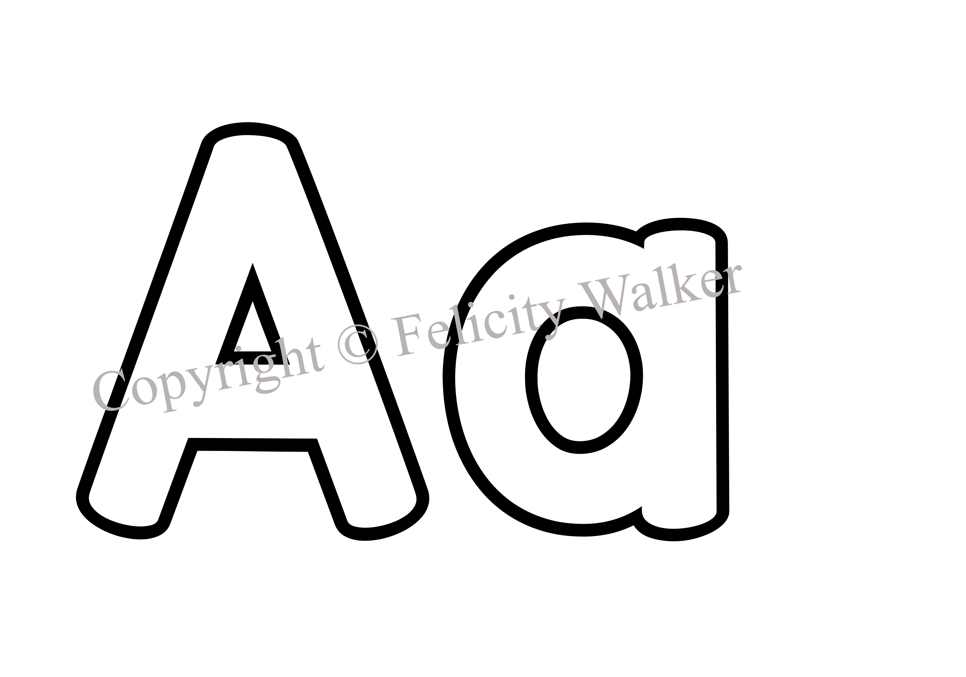 Letter Aa Clipart Black And White 5 Clipart Station