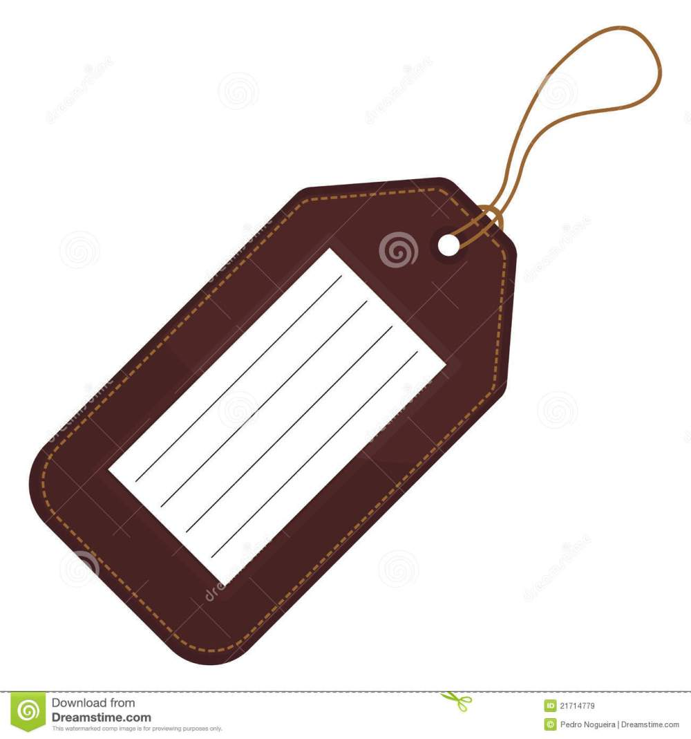 medium resolution of luggage tag clipart 1