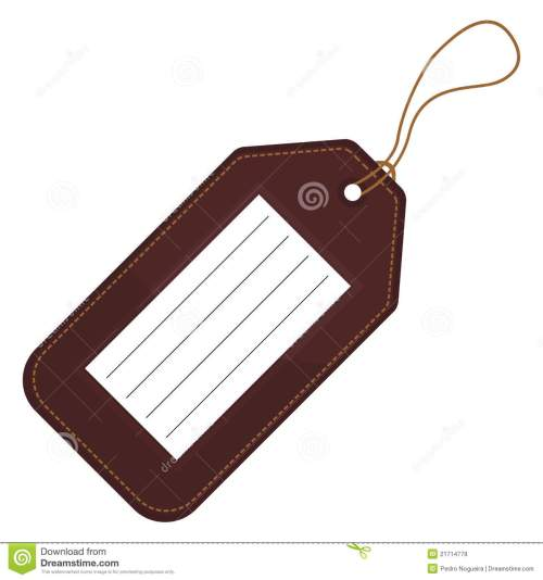 small resolution of luggage tag clipart 1