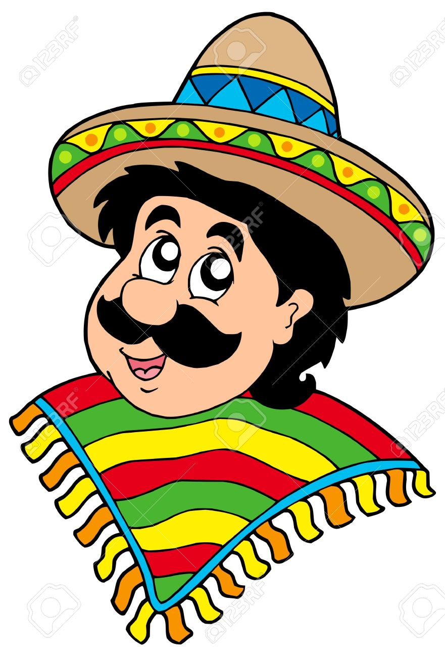 hight resolution of man in sombrero clipart 7