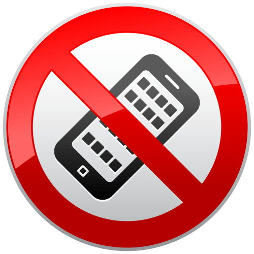 small resolution of no cell phone clipart 5