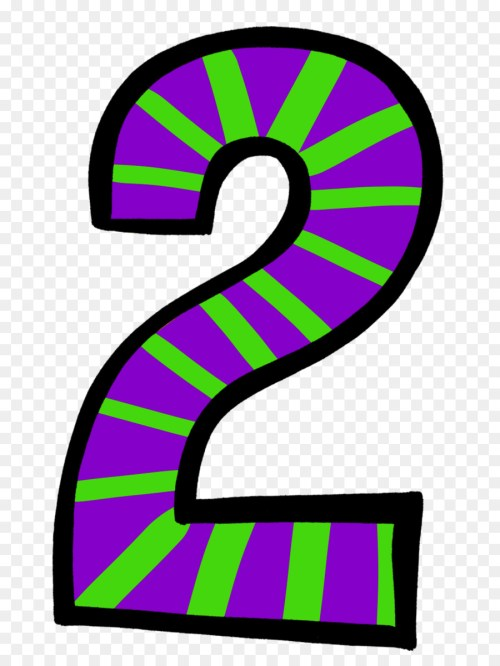 small resolution of number 2 birthday clipart 3