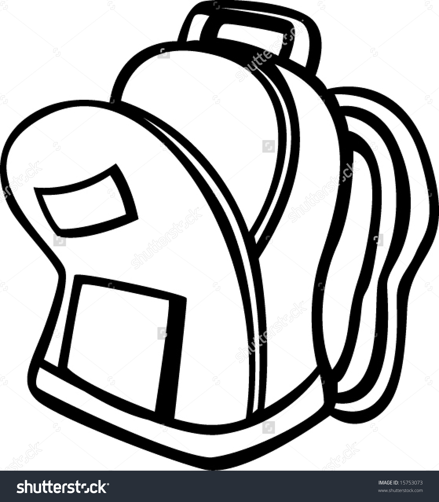 hight resolution of open backpack clipart 5