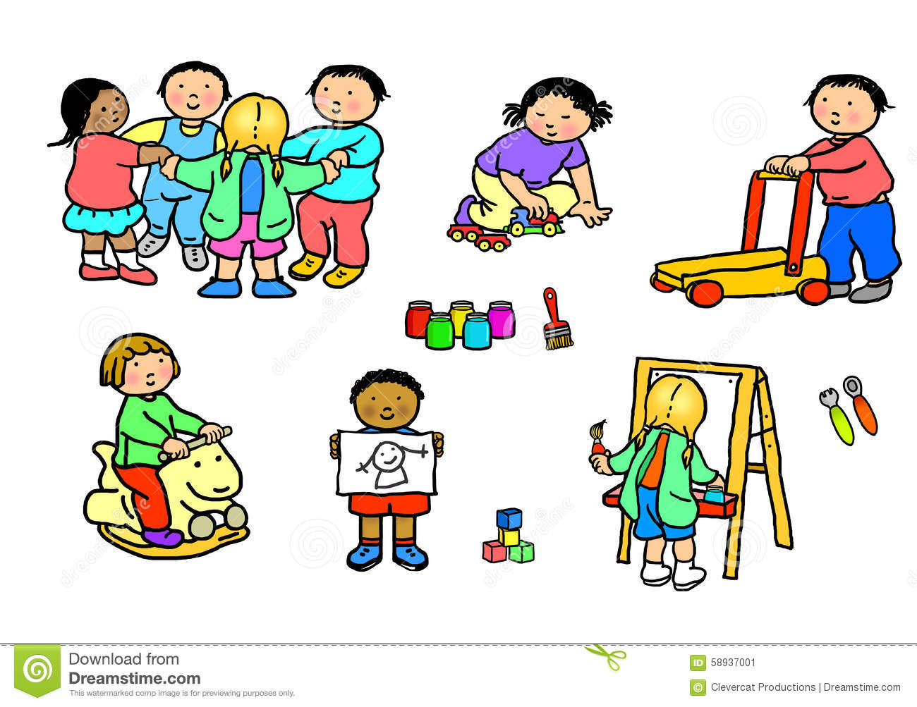 hight resolution of preschool free play clipart 1
