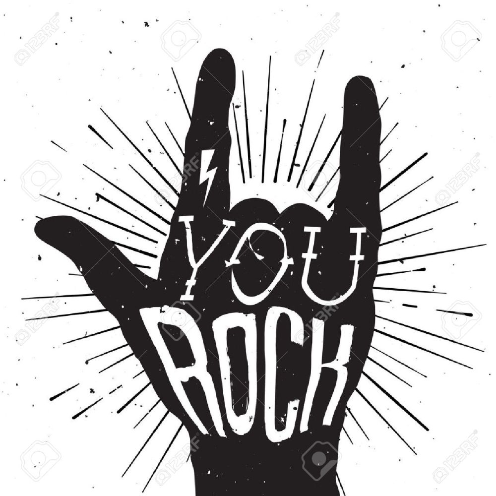 medium resolution of rock and roll clipart black and white 4