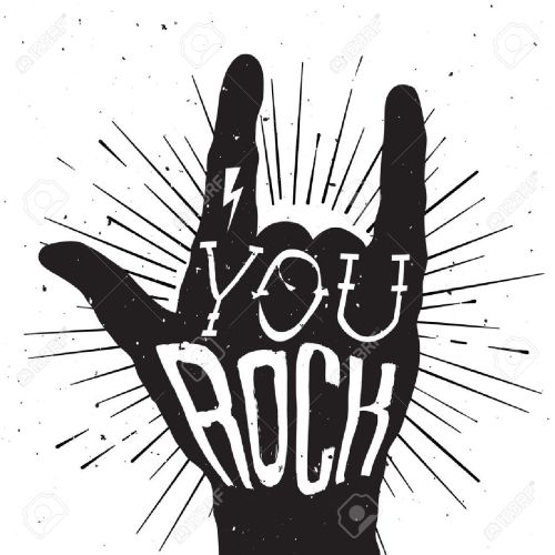 small resolution of rock and roll clipart black and white 4