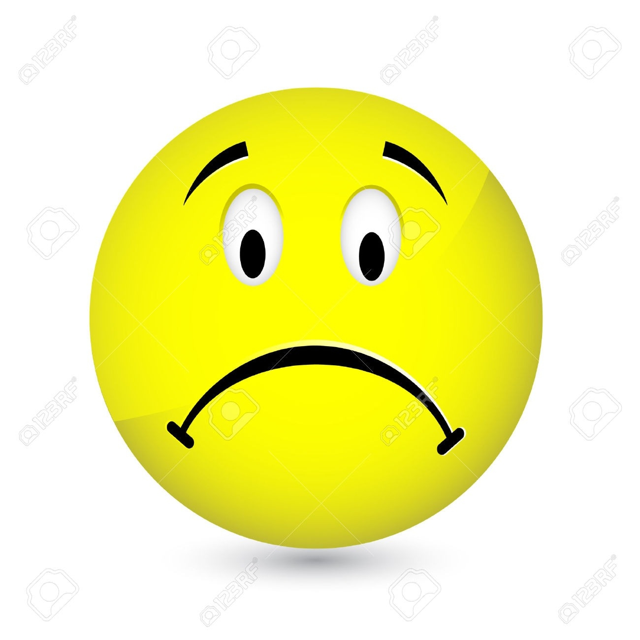crying smiley face clipart