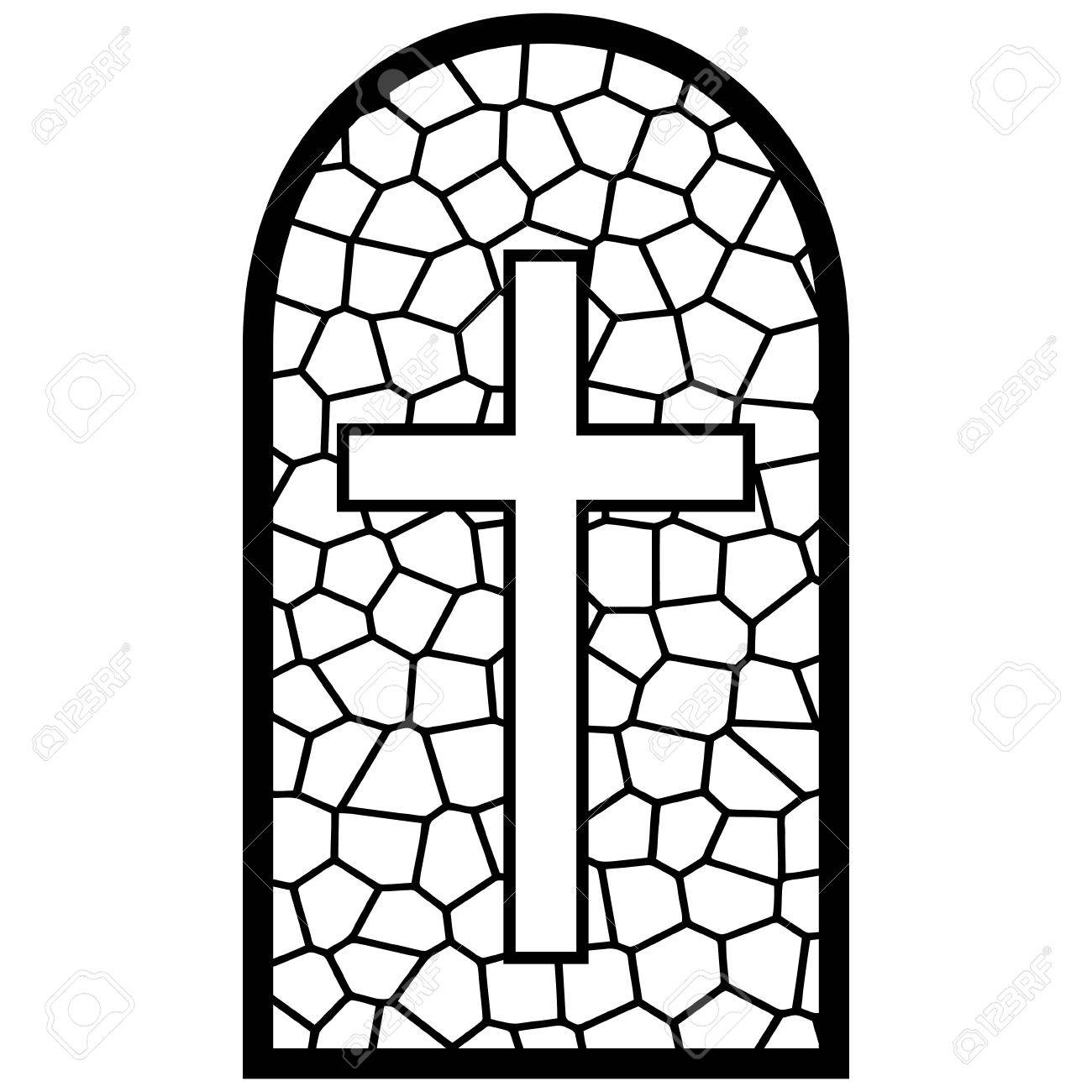 hight resolution of stained glass cross clipart 3