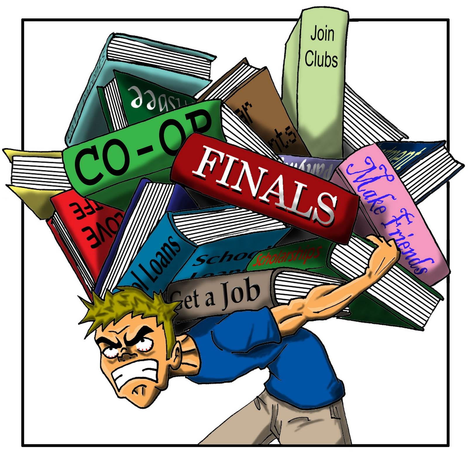 hight resolution of stressed out student clipart 4