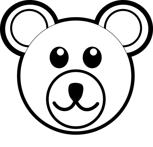 small resolution of teddy bear clipart black and white 5