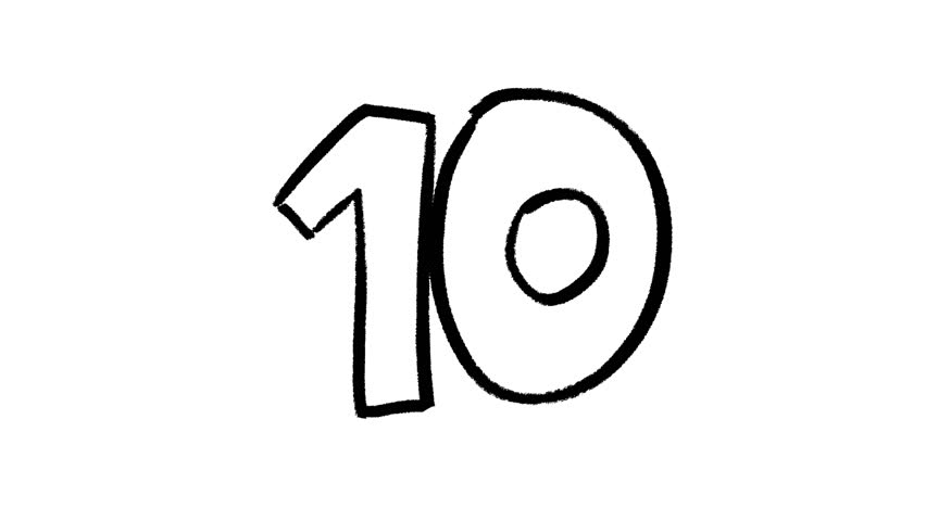 Ten clipart black and white 2 » Clipart Station