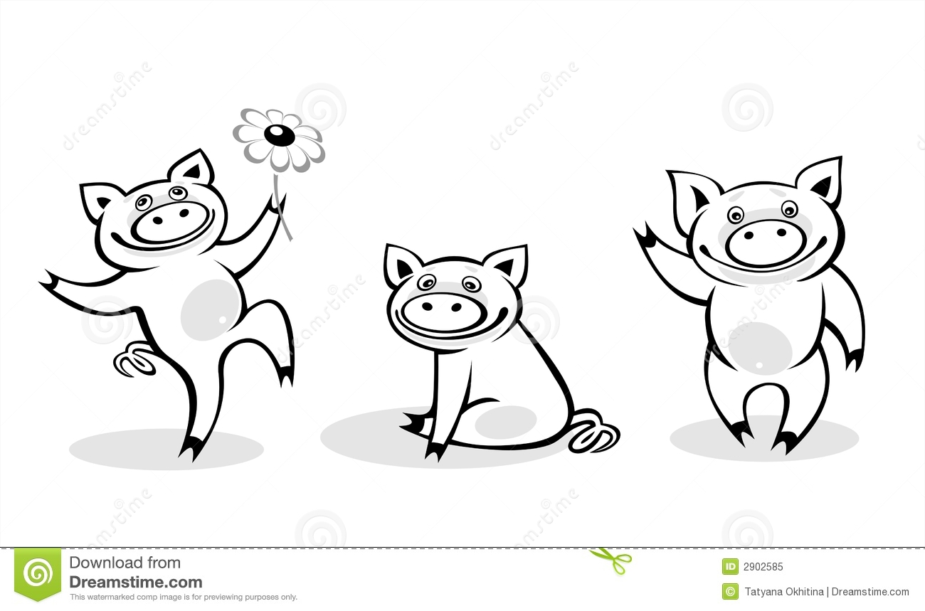 Pig Clipart Black And White Best Of Little Pig Clipart