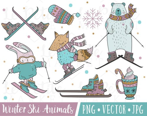 small resolution of tiere im winter clipart 6