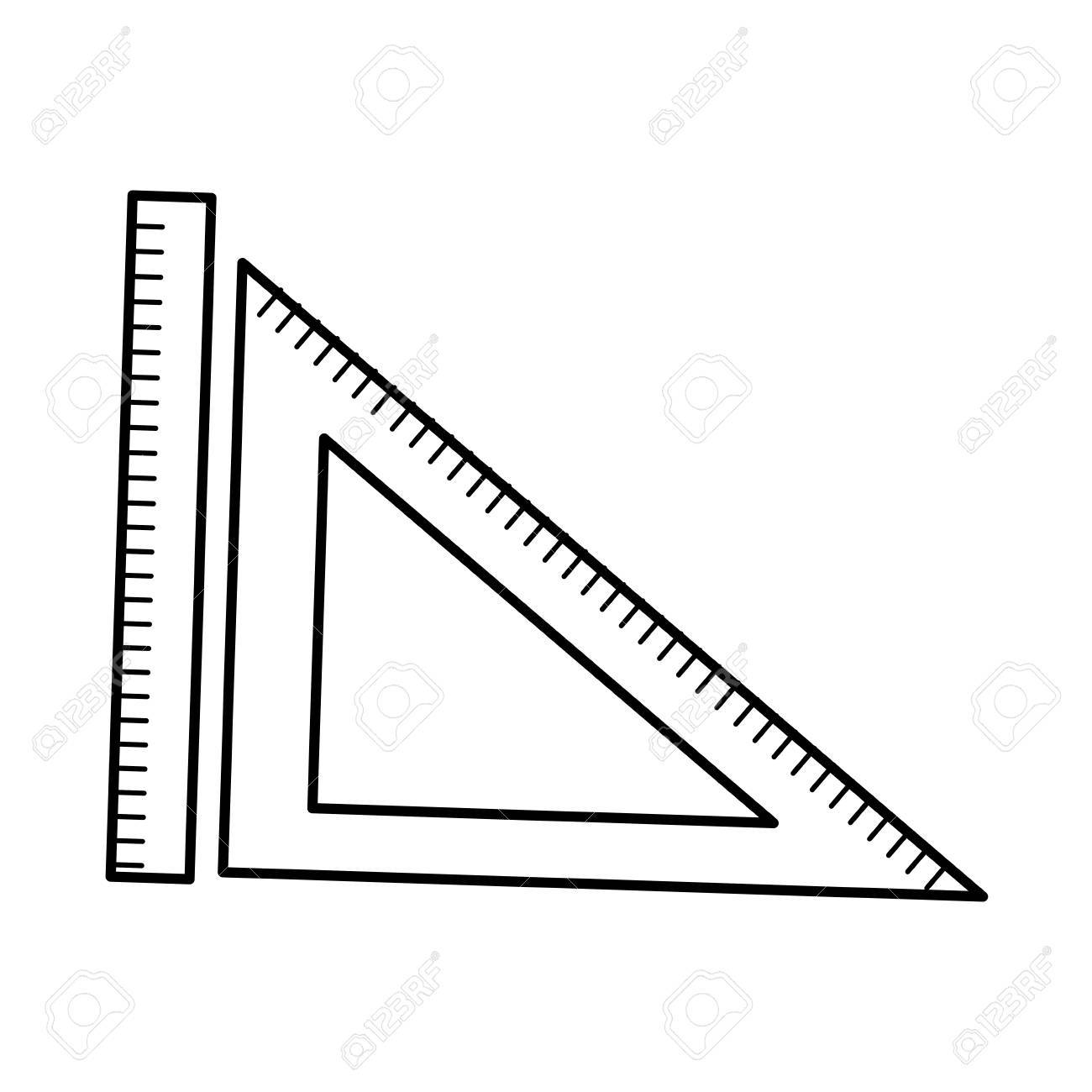 Ruler And Triangle Ruler Geometry Measuring Objects