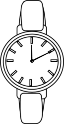 Black And White Watch Clipart 1