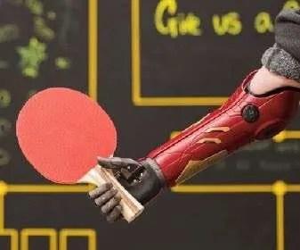 Open Bionics Playing Ping Pong
